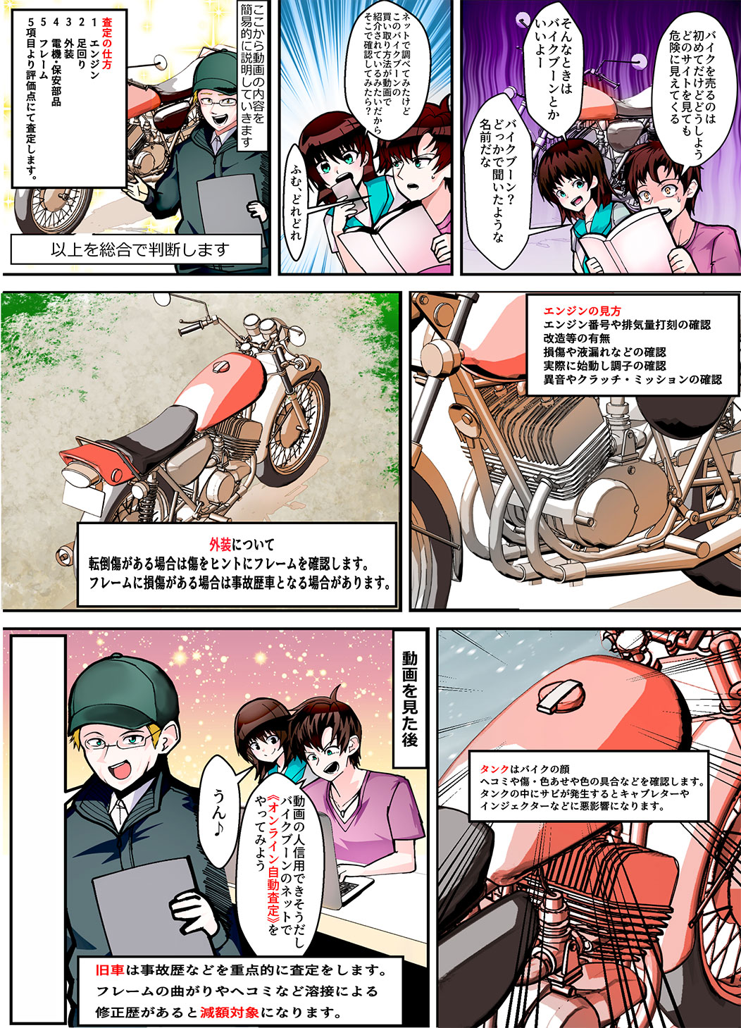 Z750RS 初期ロッド買取漫画