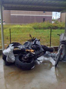 台風 転倒バイク買取